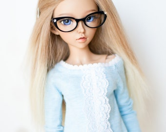 BJD MSD & MNF eyeglasses *cat eye style 2* glasses eyewear. frame only or with clear glass