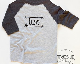 Toddler Two Shirt Raglan Boy/Girl Birthday - 2 Birthday tshirt Boy/Girl - Second B-Day t shirt - 2nd Birthday Tee - 2 Raglan Shirt Toddler -
