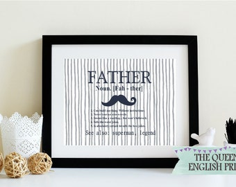 Definition of Father Personalised Print