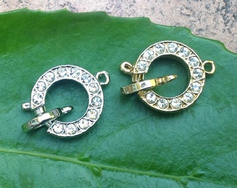 Spring Ring Swarovski Crystal Clasp