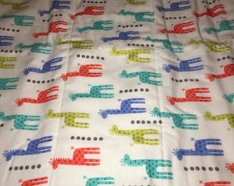 Fun with Giraffes Burp Cloth