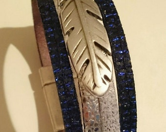 small cuff silver-black-blue