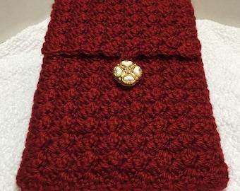 iPad Mini Cover, Crochet Mini iPad Cover, iPad Cozy, Tablet Cover, Crochet Tablet Cozy, iPad Mini or e-Reader Cozy