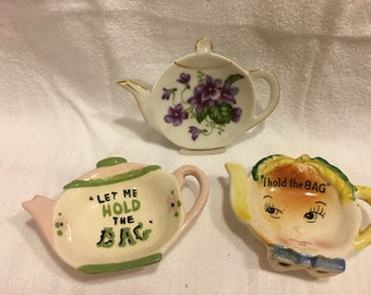 Vintage Tea Bag Holders