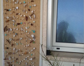 Window curtain shells and beads
