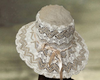Wide brim sun hat Etsy
