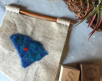 Columbia, SC Needle-Felted Wool Banner