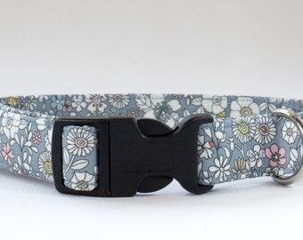 Floral Dog Collar, Girl Dog Collar, Flower Dog Collar, Liberty of London, Liberty Dog Collar, Female Dog Collar, Fabric Dog Collar