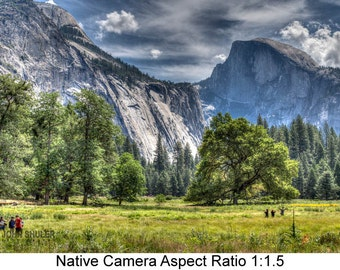 Half Dome From the Valley: Landscape art photography prints for home or office wall decor.