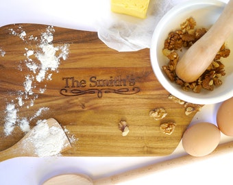 Family & Household Names - Personalised Chopping Board / Cheeseboard