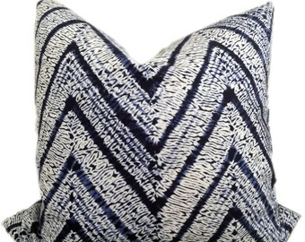 Melaya indigo blue and white fabric pillow cover - Designer Decorative Pillow Cover - Throw Pillow-Toss Pillow-Pillow Cushion-Double Sided