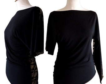Top black asymmetric Eva