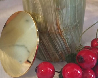 Green onyx luxury candles