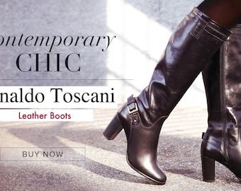 Arnaldo Toscani Luxury Leather Boots
