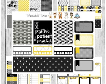 Freestyle Planning - Be Positive, Patient and Persistent Kit - planner stickers