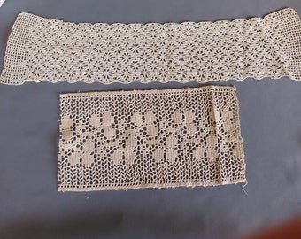 set of 4 France lace, handmade, 1920/30s, all 20 euros