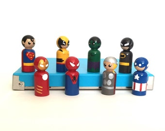 Superhero peg dolls