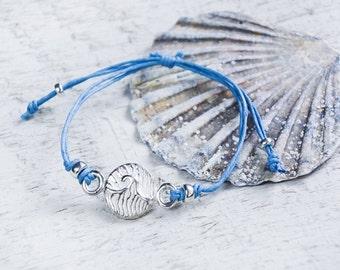 Selkie Wave Bracelet - choose cord colour