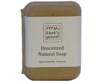 Unscented Soap, Natural, Handmade, and Vegan