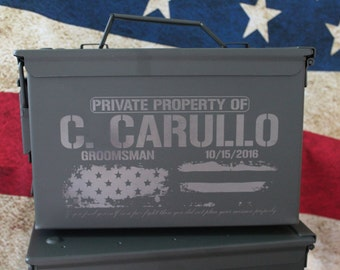 Ammunition Box, Groomsman Gift Box, Personalized Ammo Can, Wedding Gift, Ammo Gift Box, Man Gift