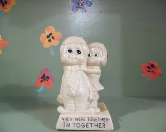 When We're Together I'm Together Russ Berrie & Co Funny Office Desk Decor Gag Anniversary Gift Vintage sillisculpt