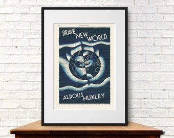 Brave New World by Aldous Huxley. Book Cover Art Print
