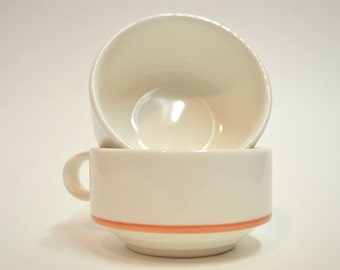 Set of 2 cups, porcelain