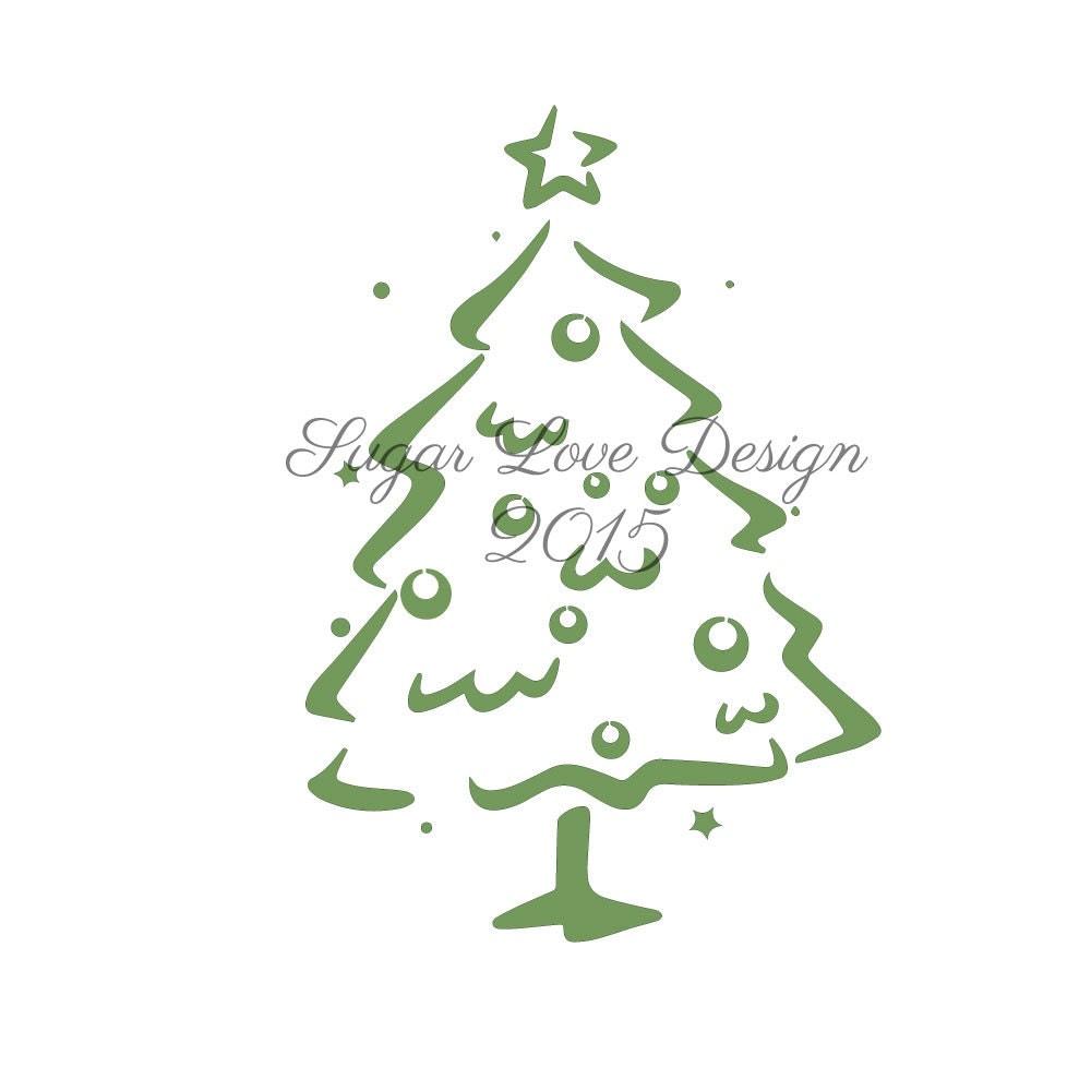 Christmas Tree Stencils: Christmas Tree Cookie Stencil Stencils For By ShopShabbyRabbit