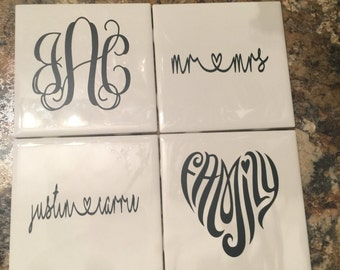 Custom Personalized Coasters