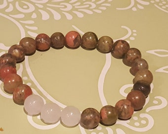 Yoga Beads/ Unakite Beaded Braclet