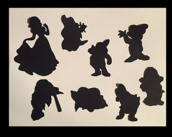 Snow White Silhouette Scrapbooking die cuts
