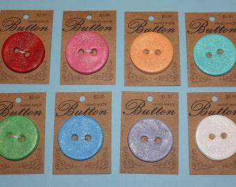 Handmade Glitter Buttons