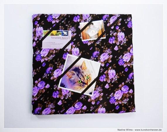 Flowers in purple-board Jewelry Board Board 30 x 30-Single piece board flower vintage motif