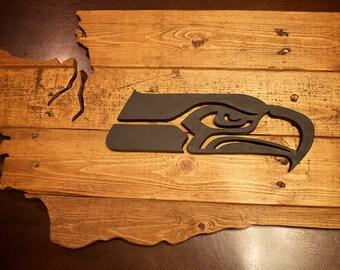 Seattle Seahawks Wood Sign, Seattle Seahawks Washington Sign, Wall Art, 12th Man, Man Cave, Seattle, Home Decor