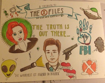 The X- Files Flash Art- Full Size Print