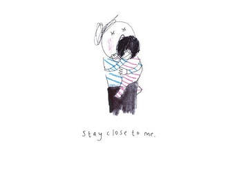 Stay Close To Me - print from the popular 'Sketchy Muma' series written and illustrated by Anna Lewis.