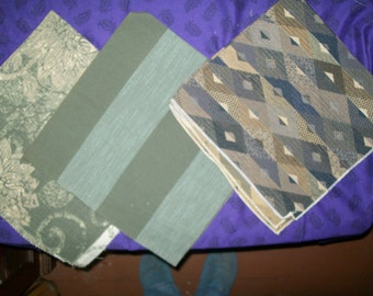 Heavier weight upholstery fabric in green hues