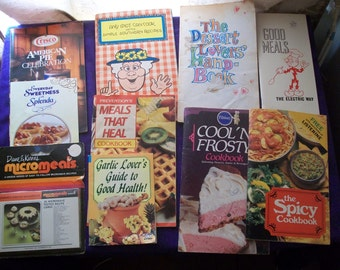 Group of 9 small cookbooks