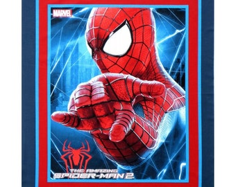 """35""""x 44"""" MARVEL SPIDER MAN 2 Wall Hanging / Cot Fabric  Quilting panel"""