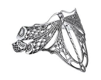 Art Nouveau Dragonfly Bangle Sterling Silver