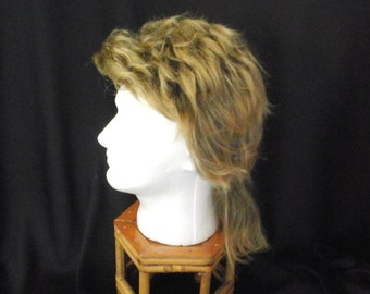 Mullet Wig, Man's 70s/80s Costume Hair