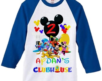 Mickey Mouse Clubhouse Birthday Shirt - Mickey Mouse Boy's Shirt - Double Sided