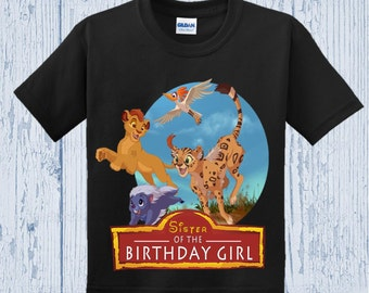 Lion Guard Birthday Sister Shirt