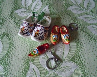 dutch clogs charm/key rings x 3