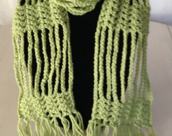 Skinny Crochet Wrap Scarf