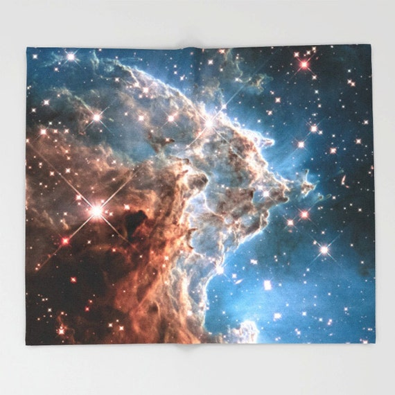 Nebula throw blanket outer space decor home decor monkey for Outer space home decor