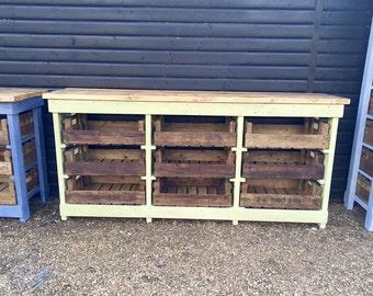 Large Larder Kitchen unit with Vintage Apple Crates