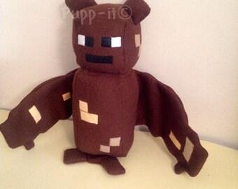 Plush Bat-series video game Minecraft-suitable for children-handmade