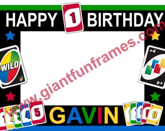 UNO Card Frame / Photo Booth / Photo Prop Digital File