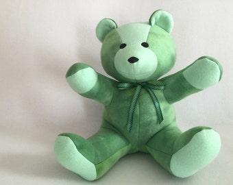 CUSTOM Color 12 inch Tie Dye Fleece Teddy Bear